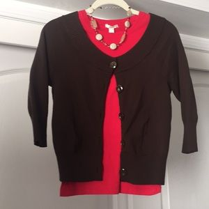 Nine West cardigan sweater brown